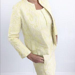 Vintage Dresses - Vintage Teal Traina Paisley Shift Dress Suit 60s